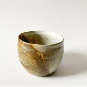 Hand made small pottery planter pot.
